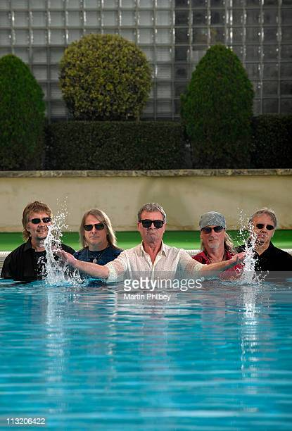 Don Airey Steve Morse Ian Gillan Roger Glover and Ian Paice of Deep Purple pose for portraits on May 6th 2010 in Perth Australia