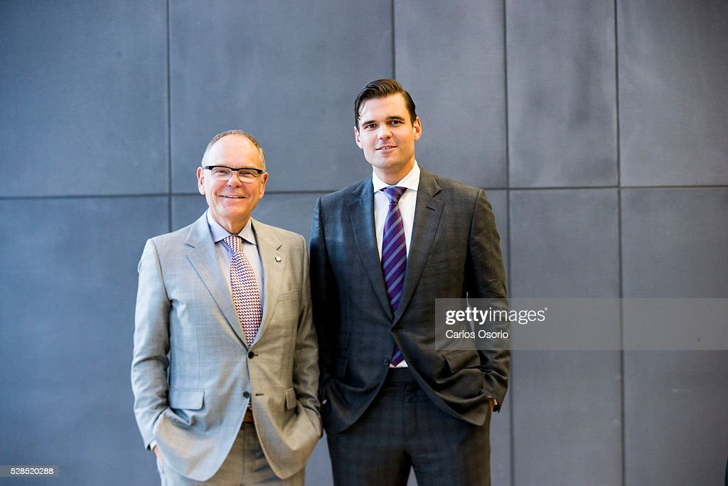 TORONTO, ON - MAY 5 - Don (left) and Alex Tapscott are launching their book, Blockchain Revolution at the Rotman School of Management on May 5, 2016.