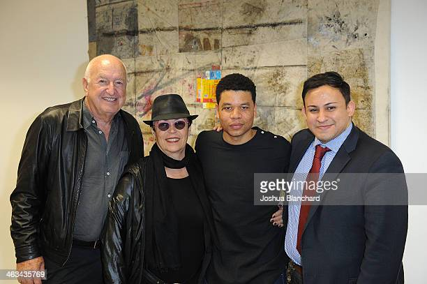 Don and Mera Rubell Oscar Murillo and Cesar Garcia at the Oscar Murillo Distribution Center VIP Opening Reception at The Mistake Room on January 17...