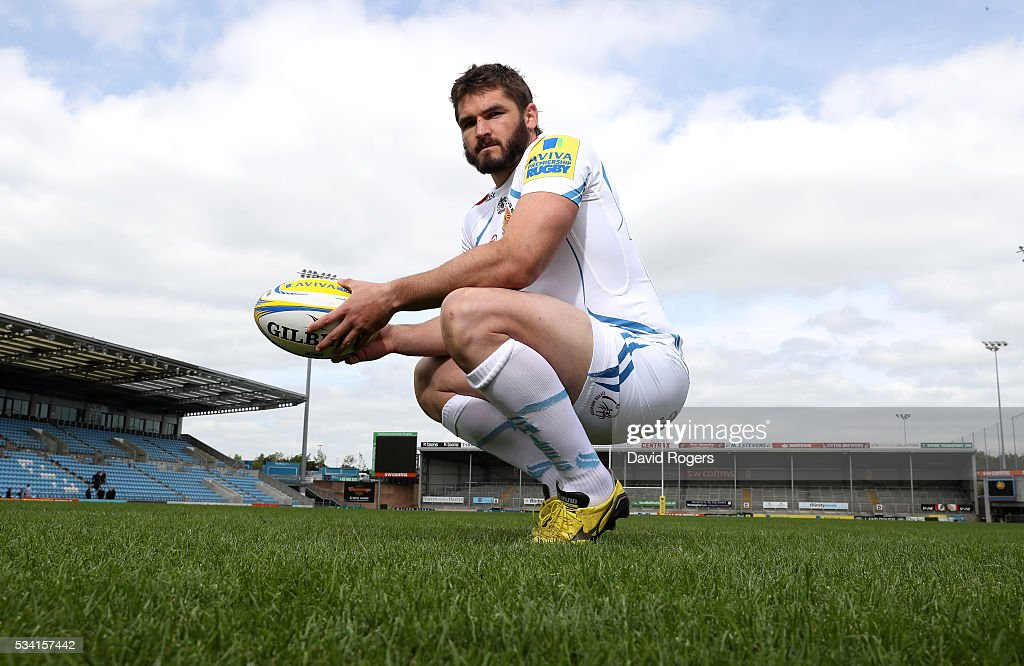 Don Armand poses during the Exeter Chiefs media session held at Sandy Park on May 25, 2016 in Exeter, England.