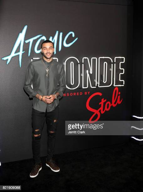 Don Benjamin attends the American premiere of Atomic Blonde starring Oscar awardwinning actress Charlize Theron at The Theatre At The Ace Hotel on...