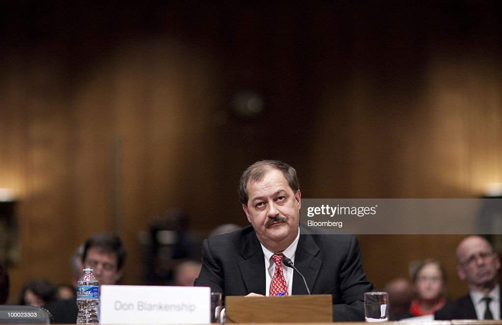 Don Blankenship, chairman and chief executive officer of Massey Energy Co., listens during a Senate Appropriations Committee hearing on proposals to invest in mine safety programs, focusing on efforts to prevent mine disasters, in Washington, D.C., U.S., on Thursday, May 20, 2010. Massey Energy does not game the system by appealing government safety citations to delay enforcement action, Blankenship said in his first appearance before Congress since the explosion at a company coal mine killed 29 workers. Photographer: Andrew Harrer/Bloomberg via Getty Images