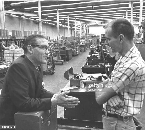 Don Brotzman Left GOP Candidate For Congress Visits Sundstrand Plant The 2nd Congressional District candidate talks to Inspector Tony Epp 671 Cortez...