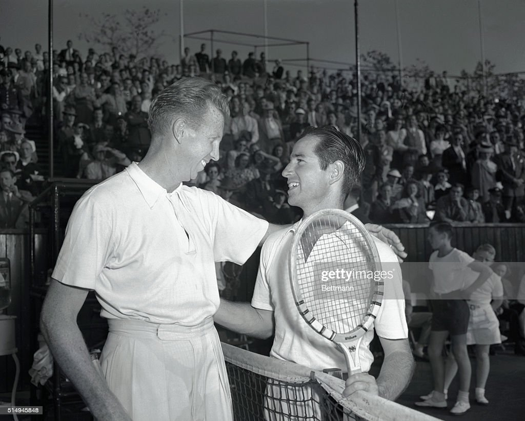 Don Budge Losing Graciously to Bobby Riggs