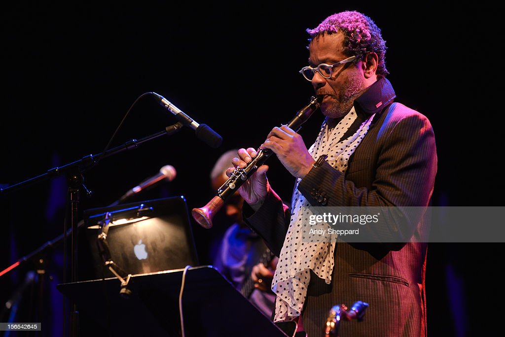 <a gi-track='captionPersonalityLinkClicked' href=/galleries/search?phrase=Don+Byron&family=editorial&specificpeople=789732 ng-click='$event.stopPropagation()'>Don Byron</a> performs on stage with Jack DeJohnette Group at Queen Elizabeth Hall during the London Jazz Festival 2012 on November 16, 2012 in London, United Kingdom.