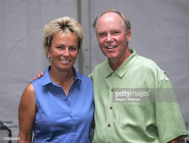 Don Calhoon and Dottie Pepper during LPGA 2004 Wendy's Championship for Children Gordon Teter Memorial ProAm Draw Party in Dublin Ohio United States...