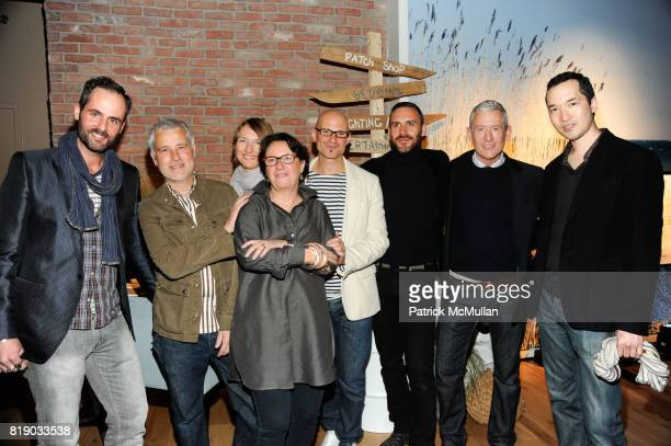 Don Carney Marsha Patmos Alex Bates David Stark James Salid Mark Welsh and John Ross attend DAVID STARK and West Elm preview party for The Flower...