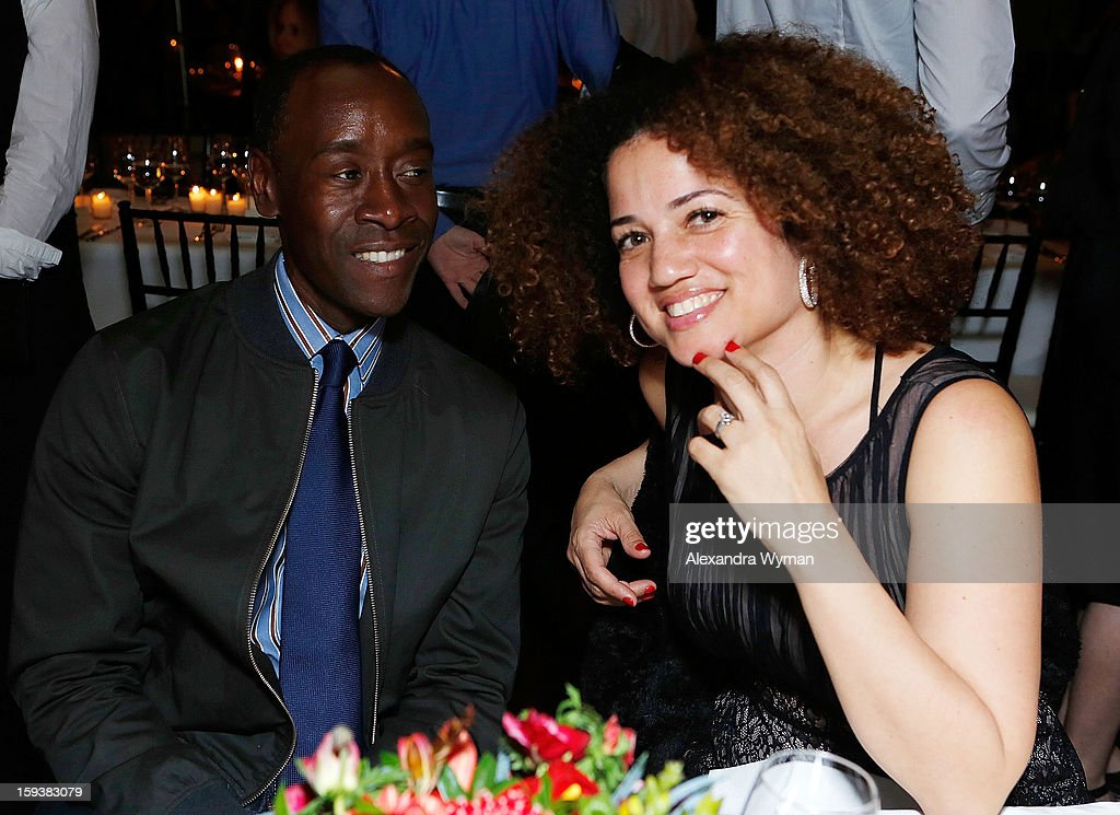 Don Cheadle and Bridgid Coulter at Showtime's dinner celebration of The 2013 Golden Globe Nominees held at The Chateau Marmont on January 12, 2013 in Los Angeles, California.