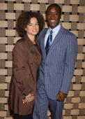 Don Cheadle and Bridgid Coulter during 'Hotel Rwanda' Los Angeles Premiere Arrivals at Academy Theatre in Beverly Hills California United States