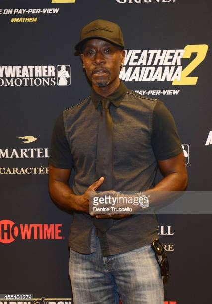 Don Cheadle arrives at Showtime's VIP PreFight party for 'MAYHEM MAYWEATHER VS MAIDANA 2' at MGM Grand Garden Arena on September 13 2014 in Las Vegas...