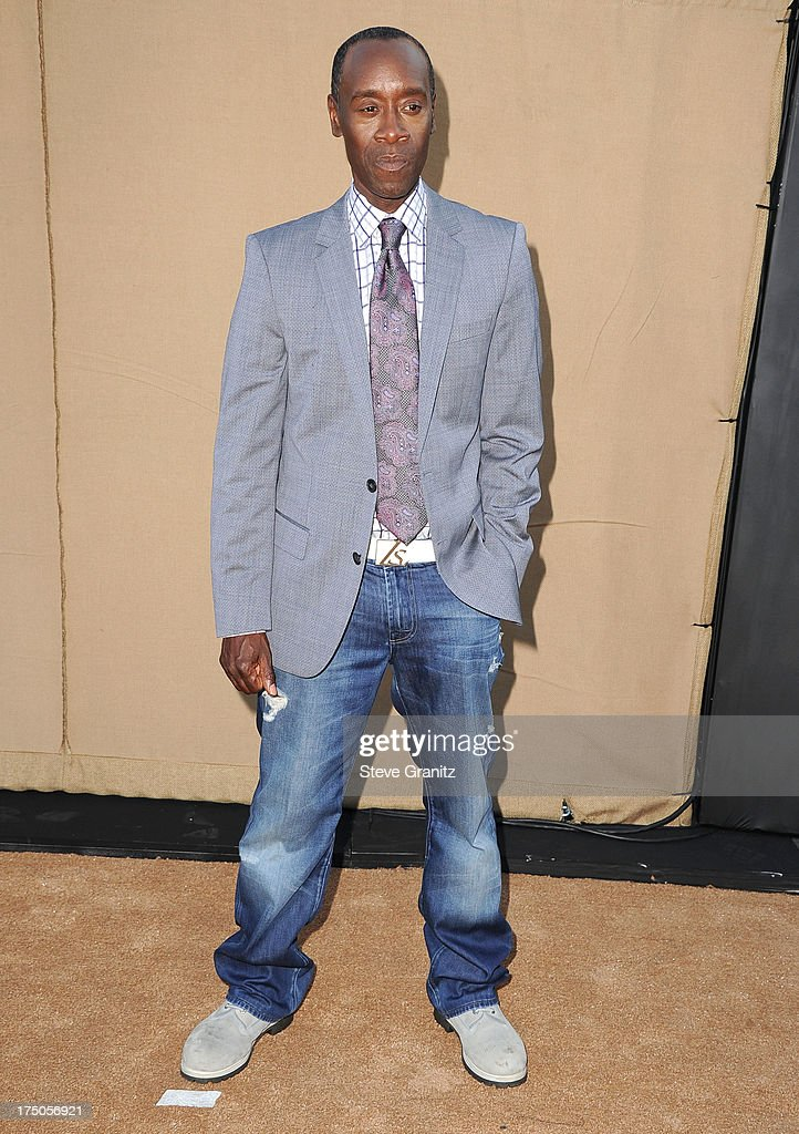 Don Cheadle arrives at the Television Critic Association's Summer Press Tour - CBS/CW/Showtime Party at 9900 Wilshire Blvd on July 29, 2013 in Beverly Hills, California.
