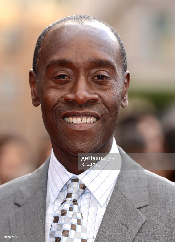<a gi-track='captionPersonalityLinkClicked' href=/galleries/search?phrase=Don+Cheadle&family=editorial&specificpeople=202096 ng-click='$event.stopPropagation()'>Don Cheadle</a> attends a special screening of 'Iron Man 3' at Odeon Leicester Square on April 18, 2013 in London, England.
