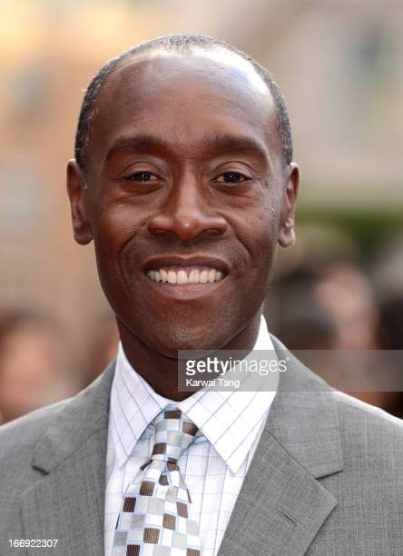 Don Cheadle attends a special screening of 'Iron Man 3' at Odeon Leicester Square on April 18 2013 in London England