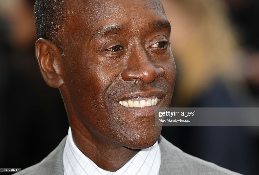 Don Cheadle attends a special screening of 'Iron Man 3' at Odeon Leicester Square on April 18, 2013 in London, England.