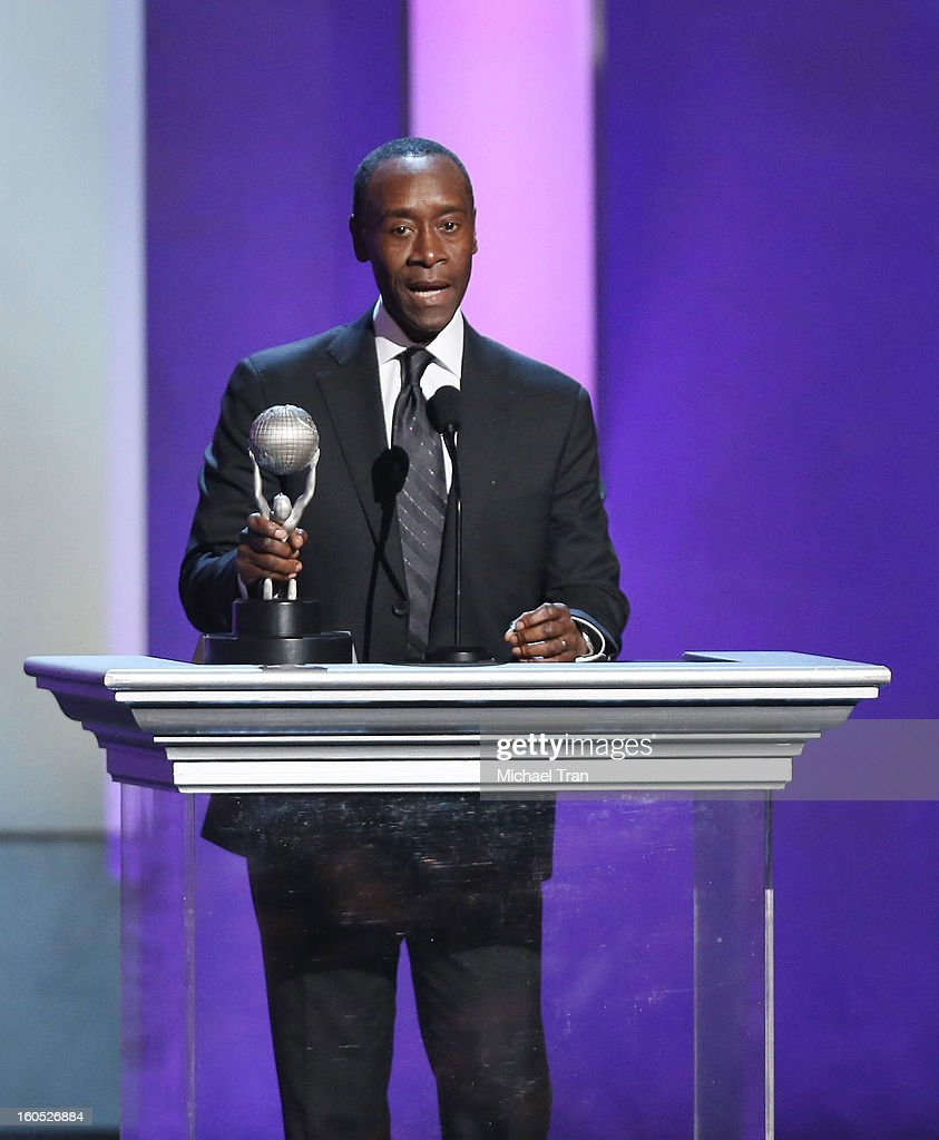 Don Cheadle speaks at the 44th NAACP Image Awards show held at The Shrine Auditorium on February 1, 2013 in Los Angeles, California.
