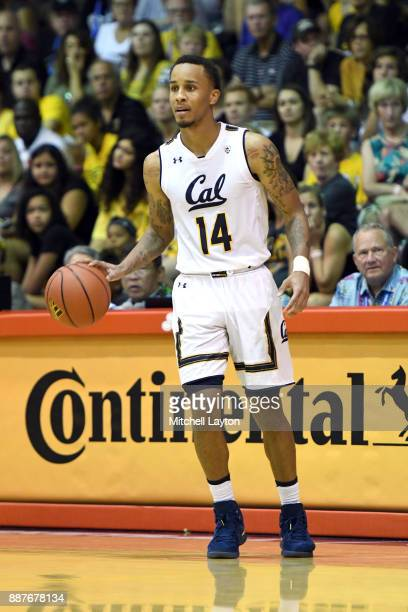 Don Coleman of the California Golden Bears dribbles the ball during a consolation college basketball game at the Maui Invitational against the...