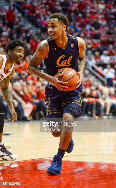 Don Coleman of the California Golden Bears drives to the basket with the ball during the 2nd half against the San Diego State Aztecs at Viejas Arena...