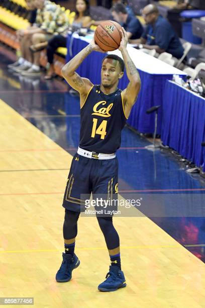Don Coleman of the California Golden Bears looks to pass the ball during a consultation college basketball game at the Maui Invitational against the...