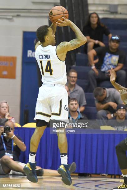 Don Coleman of the California Golden Bears takes a jump shot during a consolation college basketball game at the Maui Invitational against the...