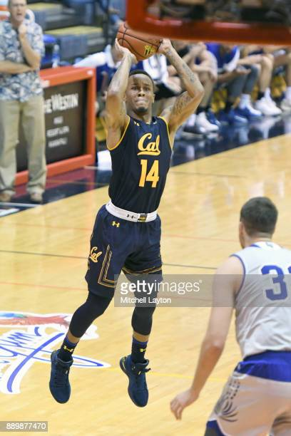 Don Coleman of the California Golden Bears takes a jump shot during a consultation college basketball game at the Maui Invitational against the...