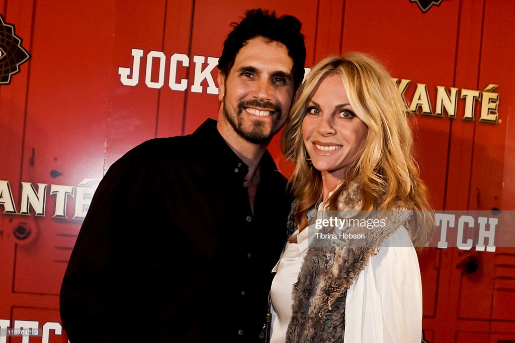 Don Diamont and Cindy Ambuehi arrive to the 'Jock Itch' Book Release Party at Eden on April 20, 2011 in Hollywood, California.