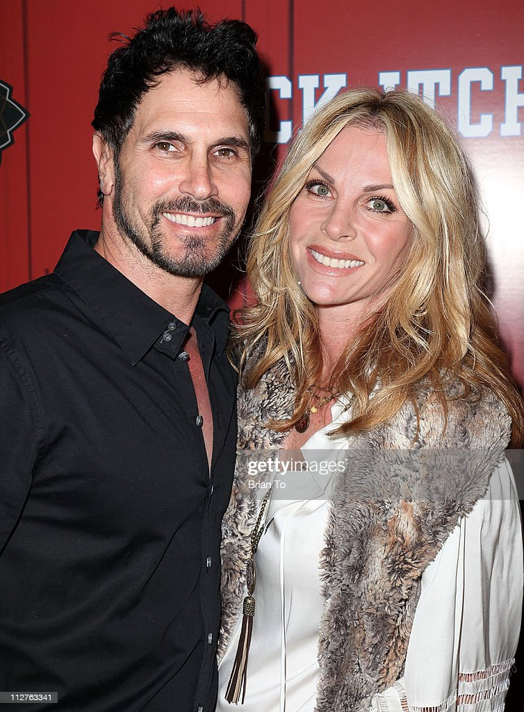 Don Diamont and Cindy Ambuehl attend 'Jock Itch' book release party at Eden on April 20 2011 in Hollywood California