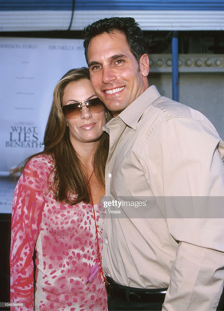 Don Diamont and guest during 'What Lies Beneath' Los Angeles Premiere at Mann Village Theatre in Westwood California United States