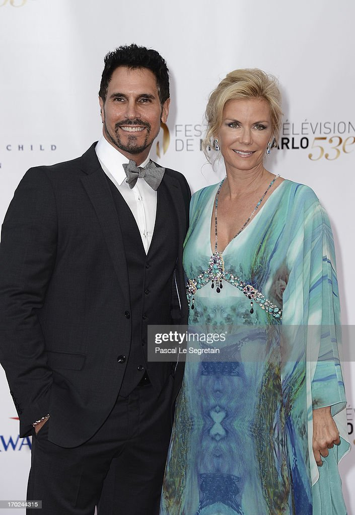 <a gi-track='captionPersonalityLinkClicked' href=/galleries/search?phrase=Don+Diamont&family=editorial&specificpeople=606917 ng-click='$event.stopPropagation()'>Don Diamont</a> and <a gi-track='captionPersonalityLinkClicked' href=/galleries/search?phrase=Katherine+Kelly+Lang&family=editorial&specificpeople=663697 ng-click='$event.stopPropagation()'>Katherine Kelly Lang</a> attend the opening ceremony of the 53rd Monte Carlo TV Festival on June 9, 2013 in Monte-Carlo, Monaco.