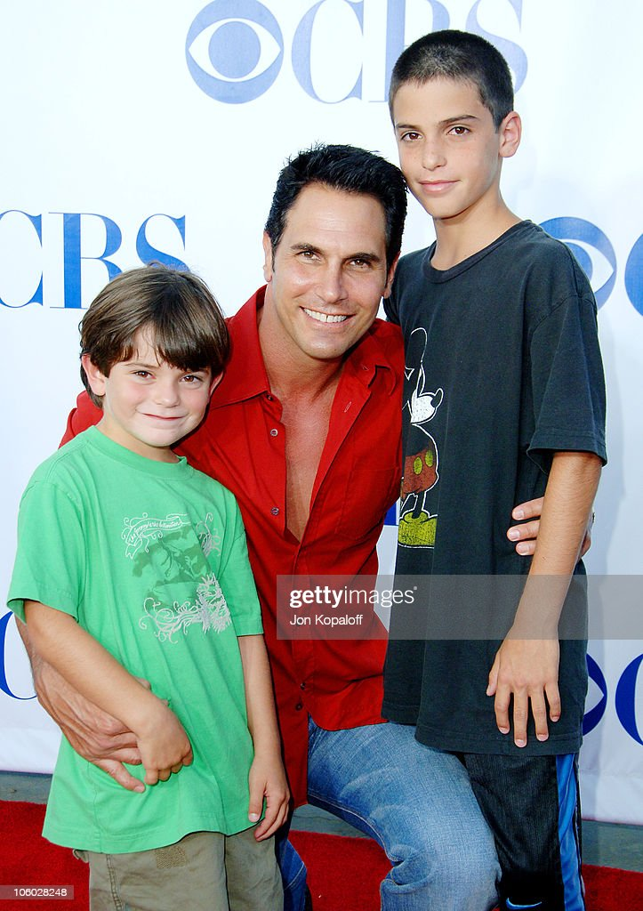 Don Diamont and sons Alexander and Luca during CBS 2006 TCA Summer Press Tour Party at Rosebowl in Pasadena California United States