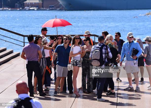 Don Diamont filming The Bold and the Beautiful at the Opera House on February 13 2017 in Sydney Australia