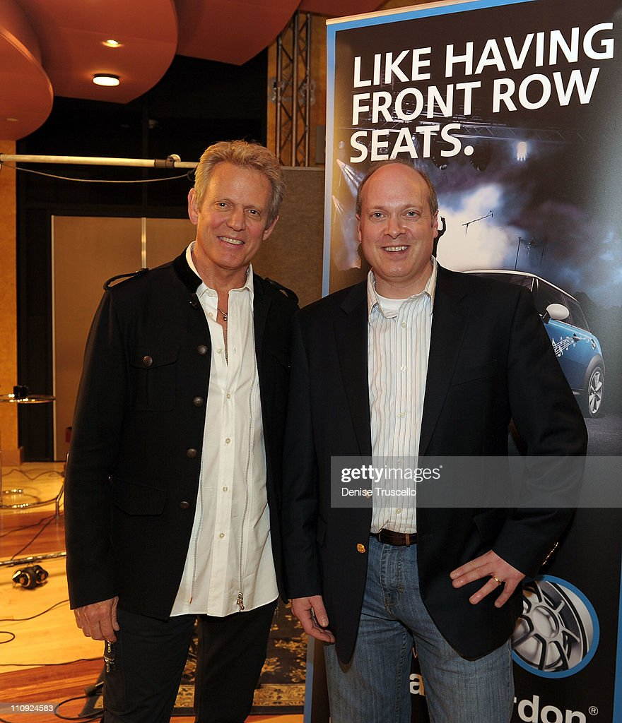 Don Felder and Daniel Webb at the Palms recording studio at The Palms Casino Resort on March 26, 2011 in Las Vegas, Nevada.