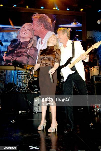 Don Felder and his daughter Leah Felder during Don Felder in Concert at the Boomer Esiason Foundation's Booming Celebration March 11 2006 at Waldorf...