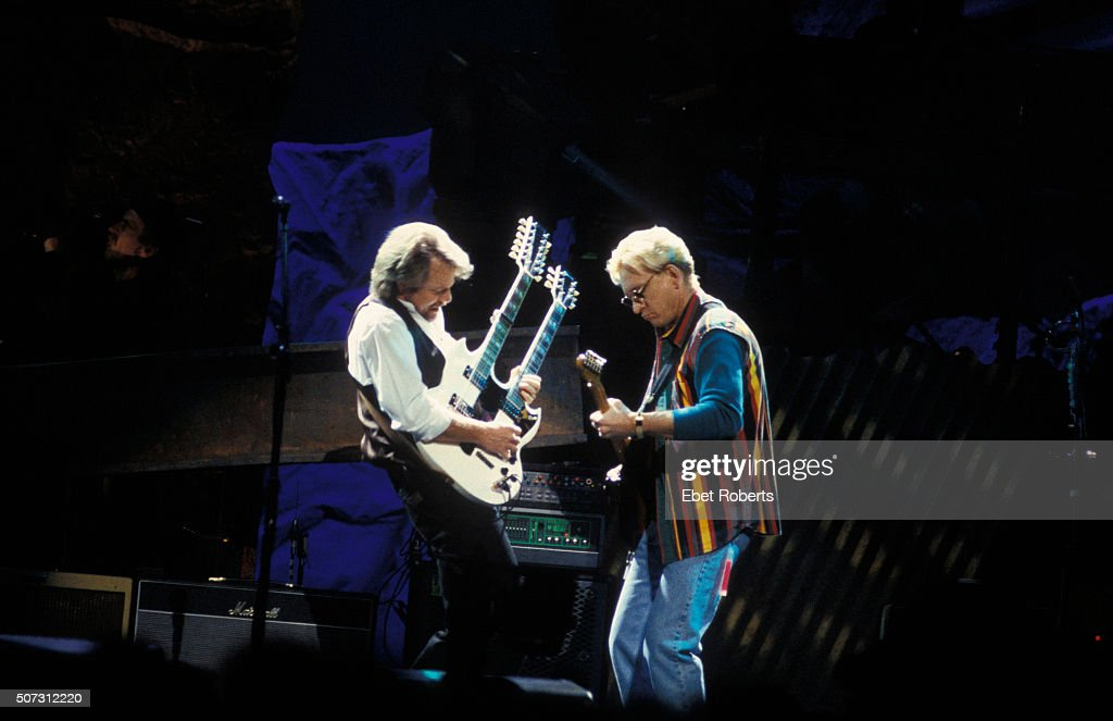 Don Felder and Joe Walsh of The Eagles performing at the Target Center in Minneapolis February 21 1995