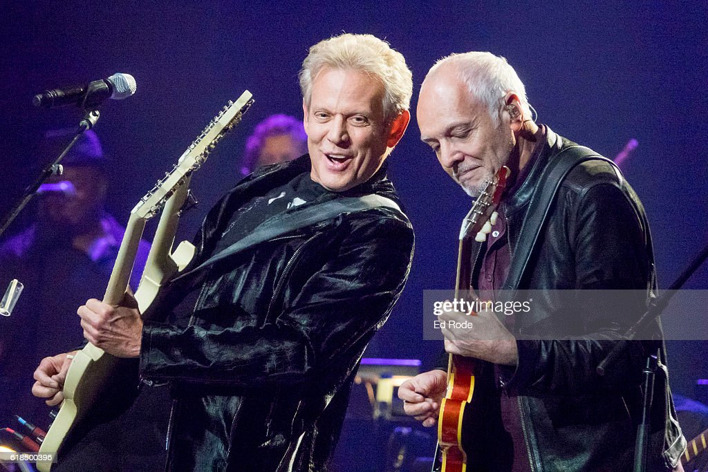 Don Felder and Peter Frampton perform at Nashville Municipal Auditorium on October 26, 2016 in Nashville, Tennessee.