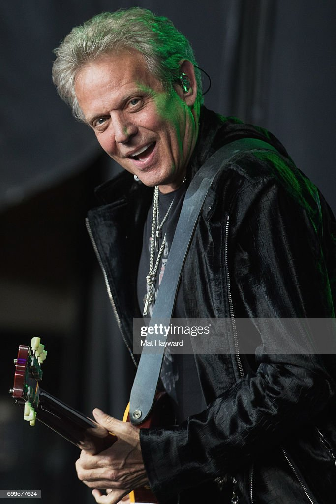 Don Felder formerly of the Eagles performs on stage during the 'United We Rock Tour 2017' at White River Amphitheatre on June 21, 2017 in Auburn, Washington.