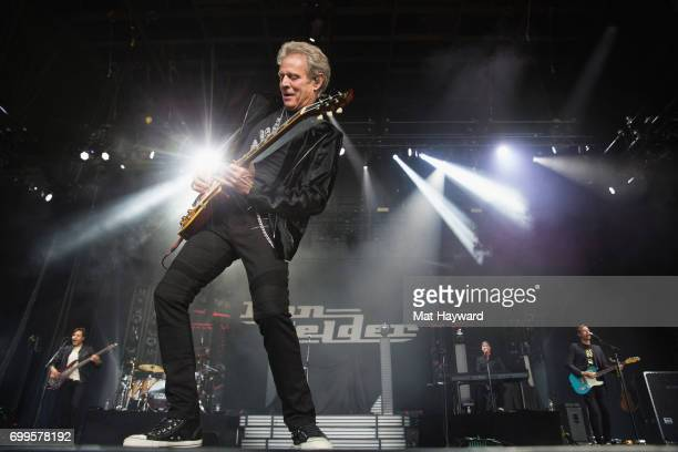Don Felder formerly of the Eagles performs on stage during the 'United We Rock Tour 2017' at White River Amphitheatre on June 21 2017 in Auburn...
