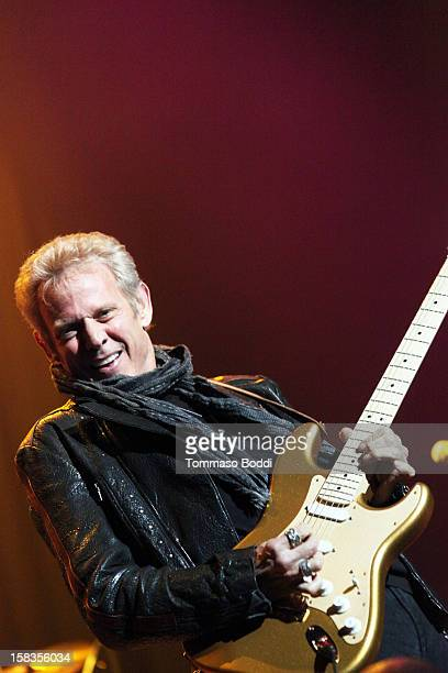 Don Felder of the Eagles performs with the KLOS All Star Band at the 955 KLOS Christmas Show held at Nokia Theatre LA Live on December 13 2012 in Los...