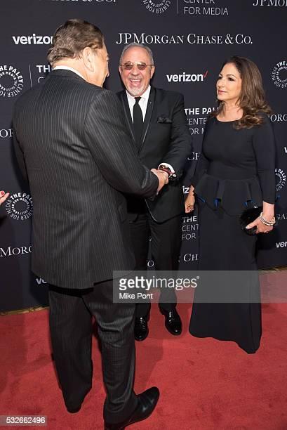 Don Francisco Emilio Estefan and Gloria Estefan attend the 2016 Paley Center for Media's Tribute To Hispanic Achievements In Television at Cipriani...