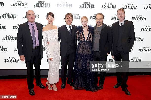 Don Granger Cobie Smulders Tom Cruise Danika Yarosh Edward Zwick and Lee Child attend the European premiere of 'Jack Reacher Never Go Back' at...