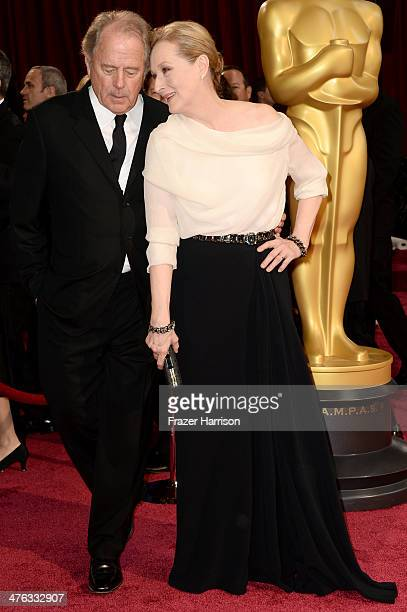 Don Gummer and actress Meryl Streep attend the Oscars held at Hollywood Highland Center on March 2 2014 in Hollywood California
