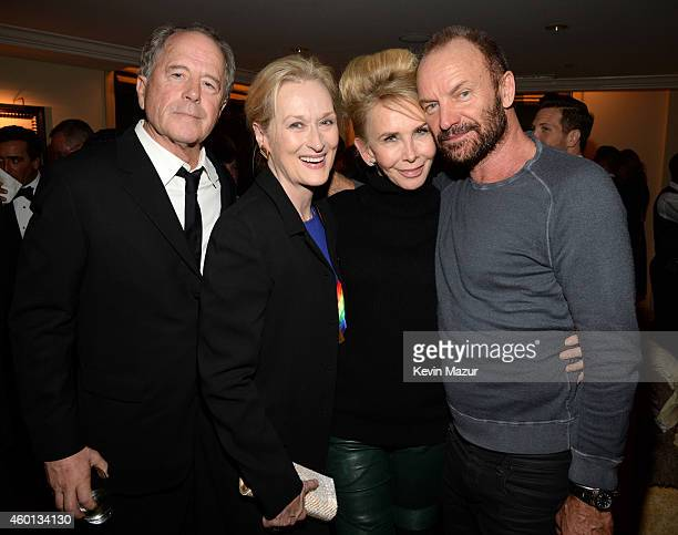 Don Gummer Meryl Streep Trudie Styler and Sting attend the 37th Annual Kennedy Center Honors party at Mandarin Oriental Hotel on December 7 2014 in...