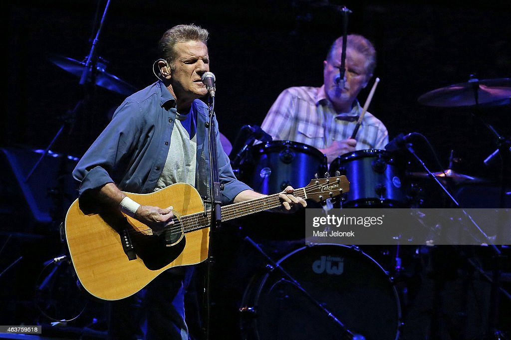<a gi-track='captionPersonalityLinkClicked' href=/galleries/search?phrase=Don+Henley&family=editorial&specificpeople=216382 ng-click='$event.stopPropagation()'>Don Henley</a> and <a gi-track='captionPersonalityLinkClicked' href=/galleries/search?phrase=Glenn+Frey&family=editorial&specificpeople=223995 ng-click='$event.stopPropagation()'>Glenn Frey</a> of The Eagles perform on stage at Perth Arena on February 18, 2015 in Perth, Australia.
