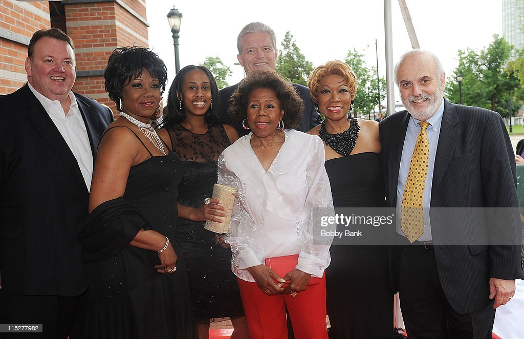 Don Jay Smith of the New Jersey Hall of Fame,The Shirelles, <a gi-track='captionPersonalityLinkClicked' href=/galleries/search?phrase=Bart+Oates&family=editorial&specificpeople=578245 ng-click='$event.stopPropagation()'>Bart Oates</a> and 'Big' <a gi-track='captionPersonalityLinkClicked' href=/galleries/search?phrase=Joe+Henry&family=editorial&specificpeople=800135 ng-click='$event.stopPropagation()'>Joe Henry</a> of 101.5 Radio attends the 2011 New Jersey Hall of Fame Induction Ceremony at the New Jersey Performing Arts Center on June 5, 2011 in Newark, New Jersey.