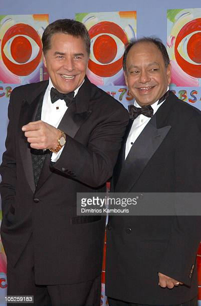 Don Johnson and Cheech Marin during CBS at 75 at Hammerstein Ballroom in New York City New York United States
