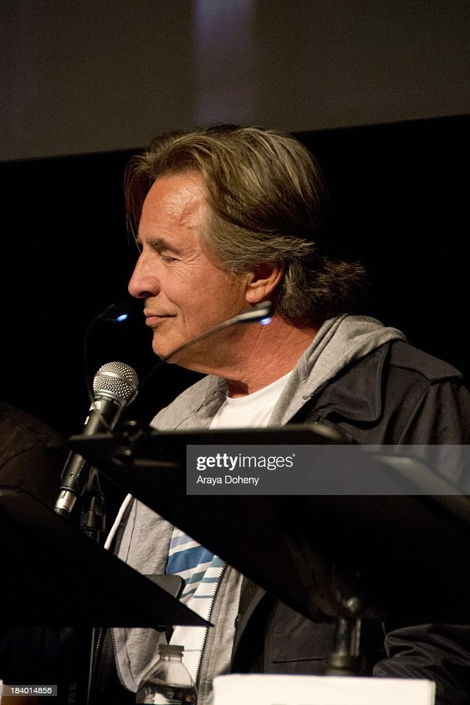 <a gi-track='captionPersonalityLinkClicked' href=/galleries/search?phrase=Don+Johnson&family=editorial&specificpeople=211250 ng-click='$event.stopPropagation()'>Don Johnson</a> at the Film Independent at LACMA - 'Boogie Nights' live read directed by Jason Reitman at Bing Theatre At LACMA on October 10, 2013 in Los Angeles, California.