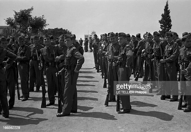 Don Juan Carlos Of Spain In The Army En Espagne lors du défilé des cadets de l'école militaire d'aviation de San Javier près d'Alicante vue...