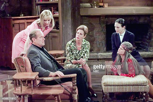 FRASIER 'Don Juan in Hell Part 2' Episode 2 Pictured Kelsey Grammer as Dr Frasier Crane Shelley Long as Diane Chambers Rita Wilson as Hester Crane...