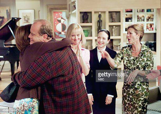 FRASIER 'Don Juan in Hell Part 2' Episode 2 Pictured Kelsey Grammer as Dr Frasier Crane Shelley Long as Diane Chambers Bebe Neuwirth as Dr Lilith...
