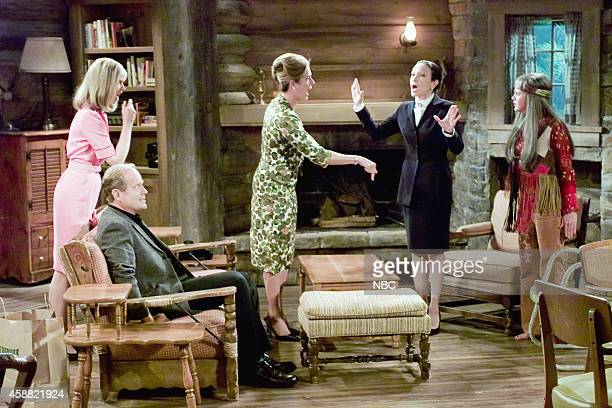 FRASIER 'Don Juan in Hell Part 2' Episode 2 Pictured Shelley Long as Diane Chambers Kelsey Grammer as Dr Frasier Crane Rita Wilson as Hester Crane...