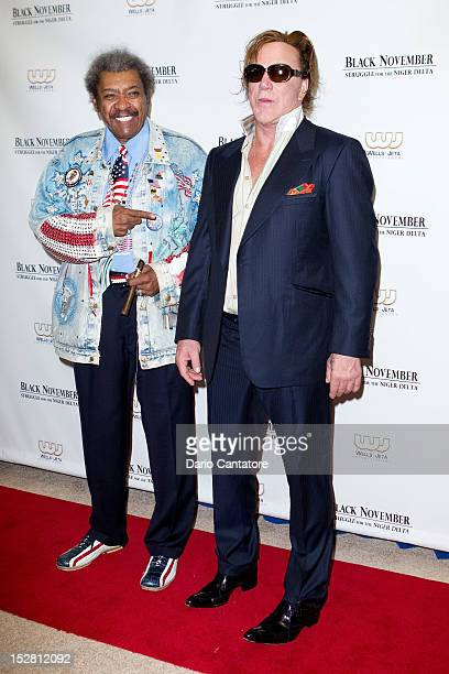 Don King and Mickey Rourke attends the 'Black November' New York City Premiere at United Nations on September 26 2012 in New York City
